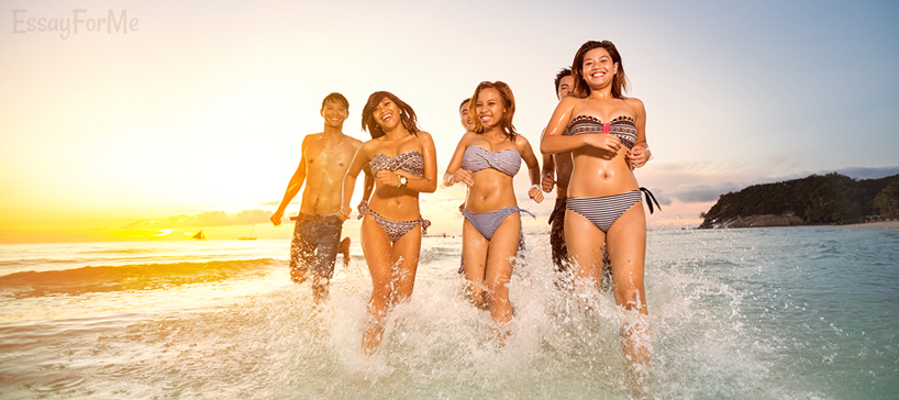 Students on Seaside